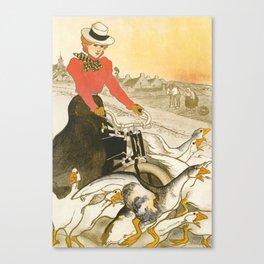 "Théophile Steinlen ""Motocycles Comiot"" Canvas Print"