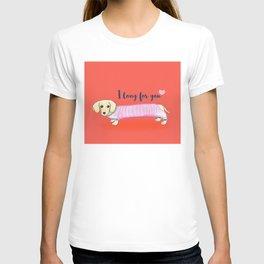 Valentine's Day dachshund dog T-shirt