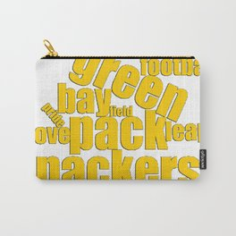 Green Bay Typography Packers Word Art Carry-All Pouch