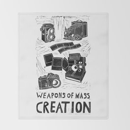 Weapons Of Mass Creation - Photography (blockprint) Throw Blanket