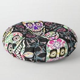Happy calaveras Floor Pillow