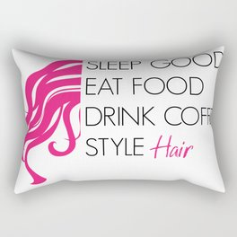 Style Hair Rectangular Pillow
