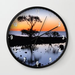 Cleveland Point Sunset Wall Clock