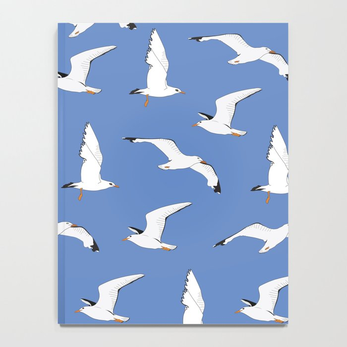 Gathering Seagulls at the Cricket Notebook