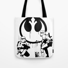 Banksy Troopers Tote Bag