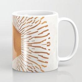 Geometric copper sun Coffee Mug