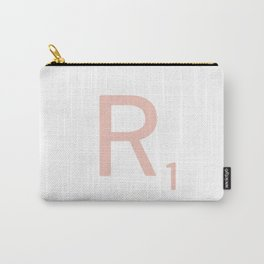Pink Scrabble Letter R - Scrabble Tile Art and Accessories Carry-All Pouch