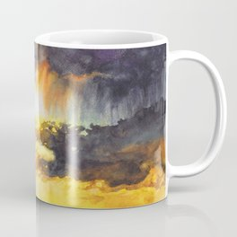 Watercolor Sky No 5 - colorful rain clouds Coffee Mug