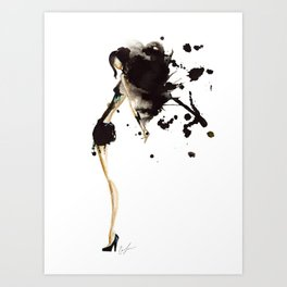 Backed Art Print