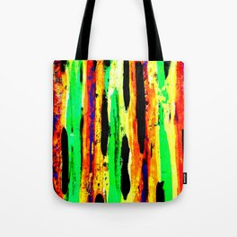 paint pattern 2 (red yellow & orange & green & blue) Tote Bag
