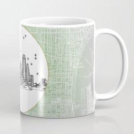 Philadelphia, Pennsylvania City Skyline Illustration Drawing Coffee Mug