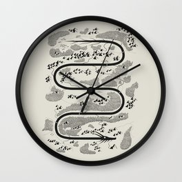 The River Dragon Wall Clock