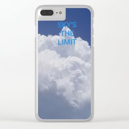 Skys the limit Clear iPhone Case