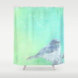 Bluebird Inked Shower Curtain
