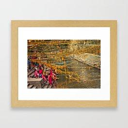 puja in kathmandu Framed Art Print