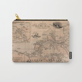 Map of the Northwest Passage 1856 Carry-All Pouch