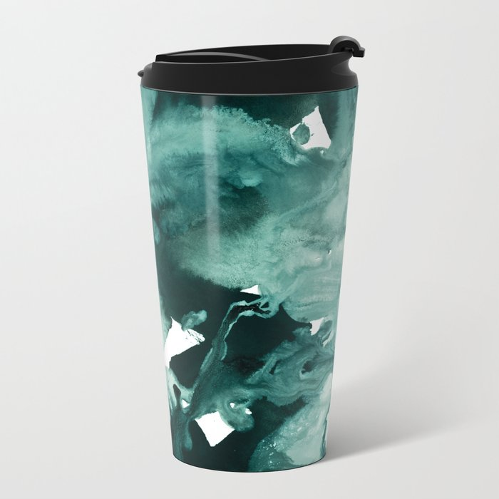 inkblot marble 4 Metal Travel Mug