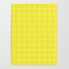 Lemon Yellow Grid Poster