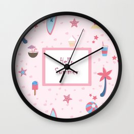 Summer Pattern Wall Clock