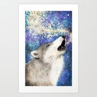 howl Art Prints featuring Howl by Georgia Roberts