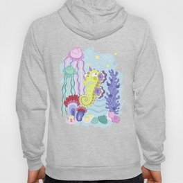 the Majestic Magical Seahorse Unicorn Hoody