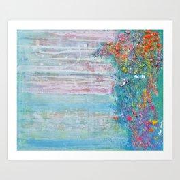 Tides of change (New beginnings) - original textured painting, prophetic art Art Print