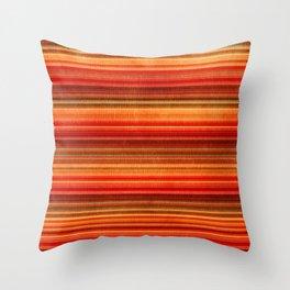 Orange Stripe Throw Pillow