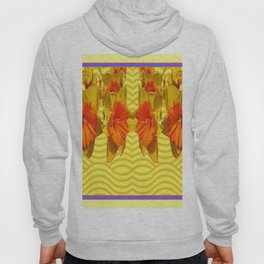 Golden Daffodils Pattern Hoody