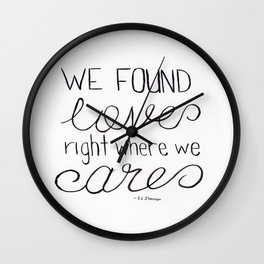 Thinking Out Loud 1 Wall Clock