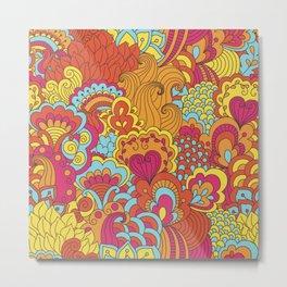 Paisley Pop Tangle #1 Metal Print