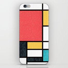 Clean Mondrian (Sponge) iPhone Skin