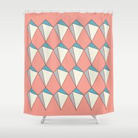 diamonds Shower Curtains featuring diamonds by Evan Hinze