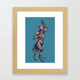 Virgo Werewolf Framed Art Print
