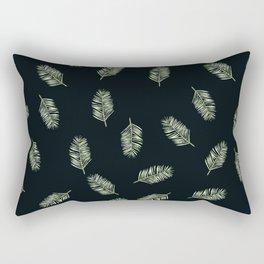 palm areca - black Rectangular Pillow