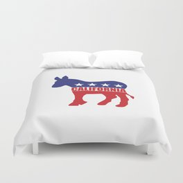 California Democrat Donkey Duvet Cover