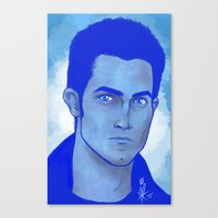 derek hale Canvas Prints featuring Derek Hale by Mel Darling