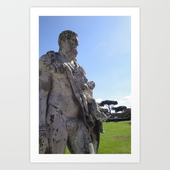 Ancient Statue? Art Print