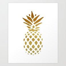 Golden Pineapple Art Print