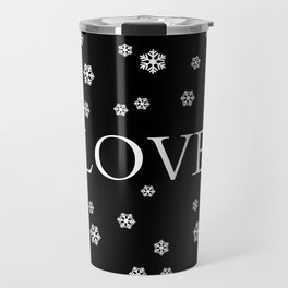 Winter Love - black Travel Mug