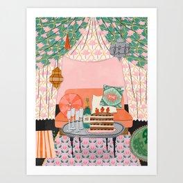 Nomad Tent Art Print