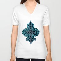 celtic V-neck T-shirts featuring celtic blue by Ariadne