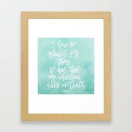 No Greater Joy Framed Art Print