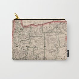 Vintage Map of Oregon (1883) Carry-All Pouch