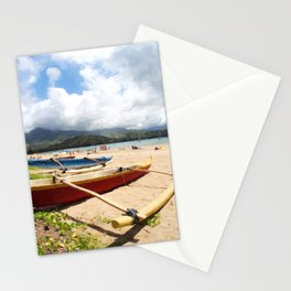 outrigger canoe Stationery Cards