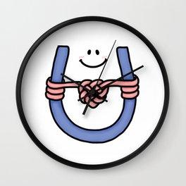 I Love U, I Love U Knot Wall Clock