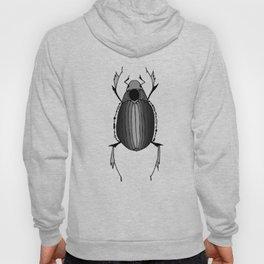 Egyptian Scarab Beetle Gray Black Hoody