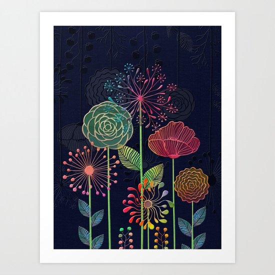 Flower Tales 2 Art Print