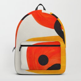 Colorful Mid Century Modern Abstract Fun Shapes Patterns Space Age Orange Yellow Orbit Bubbles Backpack