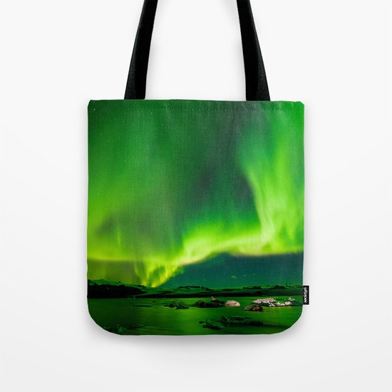 Iceland Northern Lights Tote Bag