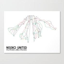 Niseko United, Japan - Japan Edition - Minimalist Trail Art Canvas Print